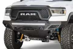 Addictive Desert Designs F611402770103 2019 Ram Rebel 1500 Stealth Fighter Fr Bumper w/Parking Sensor Cutouts