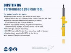 Bilstein 24-284714 4600 Series 17-19 Ford F-250 Super Duty/F-350 Super Duty Rear 46mm Monotube Shock Absorber