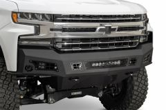 Addictive Desert Designs F447232080103 2019 Chevy Silverado 1500 HoneyBadger Front Bumper w/ Sensor Cutouts