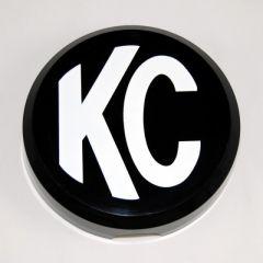 KC HiLiTES 5105 6in. Round Hard Cover for Daylighter/SlimLite/Pro-Sport (Single) - Black w/White KC Logo