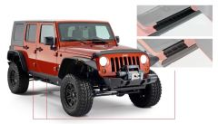 Bushwacker 14012 07-18 Jeep Wrangler Unlimited Trail Armor Rocker Panel and Sill Plate Cover - Black