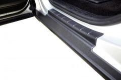 Bushwacker 14089 14-18 Chevrolet Silverado 1500 (Ext Cab) Armor Rocker Panel and Sill Plate Cover - Black
