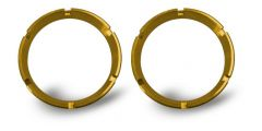 KC HiLiTES 30552 FLEX Series Colored Bezel Rings (2 Pack) - Gold